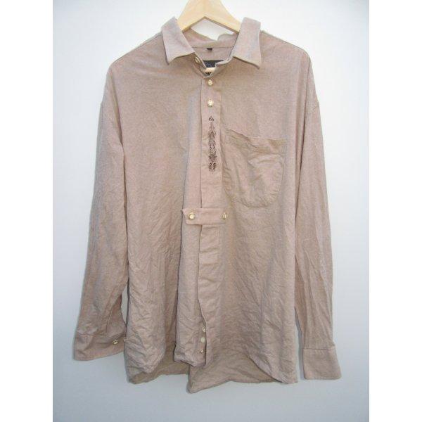Vintage Camisa folclórica marrón