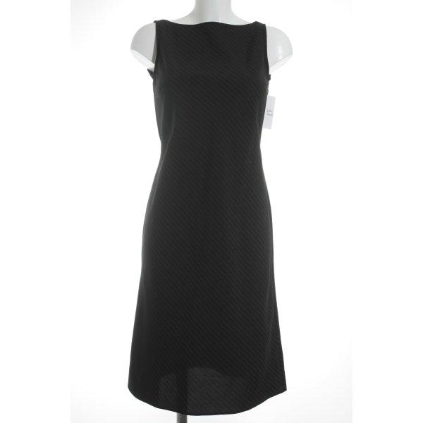 Hennes Collection by H&M Etuikleid schwarz-creme Nadelstreifen Business-Look