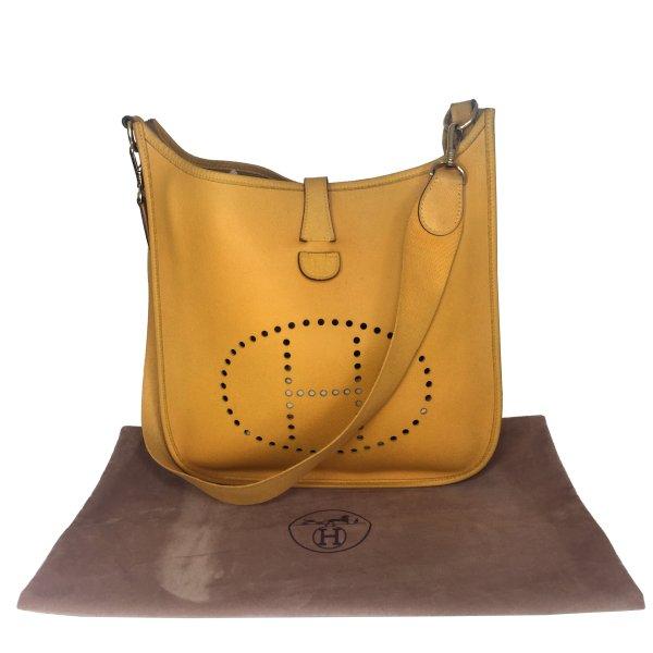 Hermès Evelyne I GM Epsom Leder Gelb Handtasche Tasche