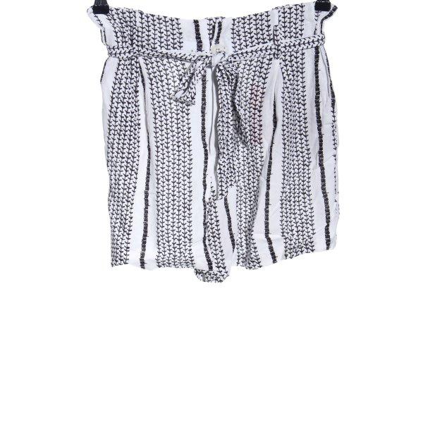 Herrlicher Shorts weiß-schwarz Allover-Druck Casual-Look