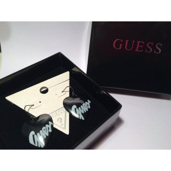 herzförmige Ohrringe mit Logo von Guess