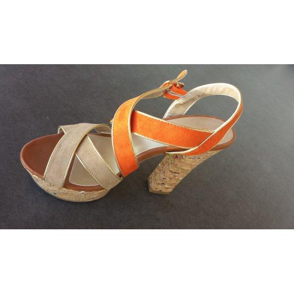 Sandaletto con tacco alto multicolore