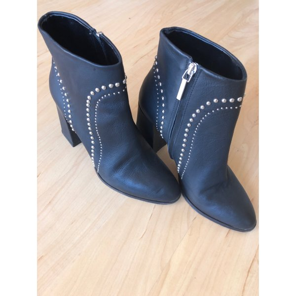 High Heel Stiefeletten von Black Label mit Nieten