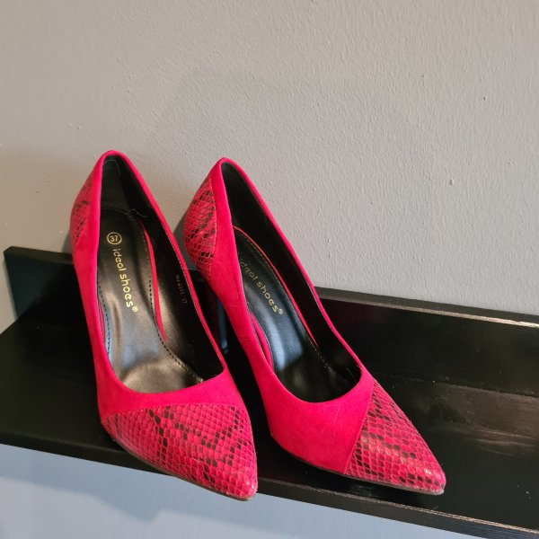 high heels größe 37 rot schlangen look neu animal pumps