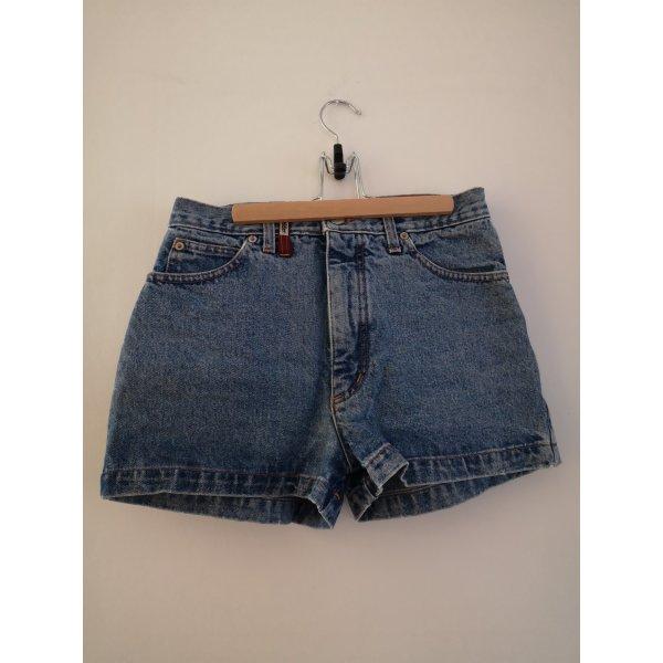 True Vintage Pantaloncino a vita alta blu