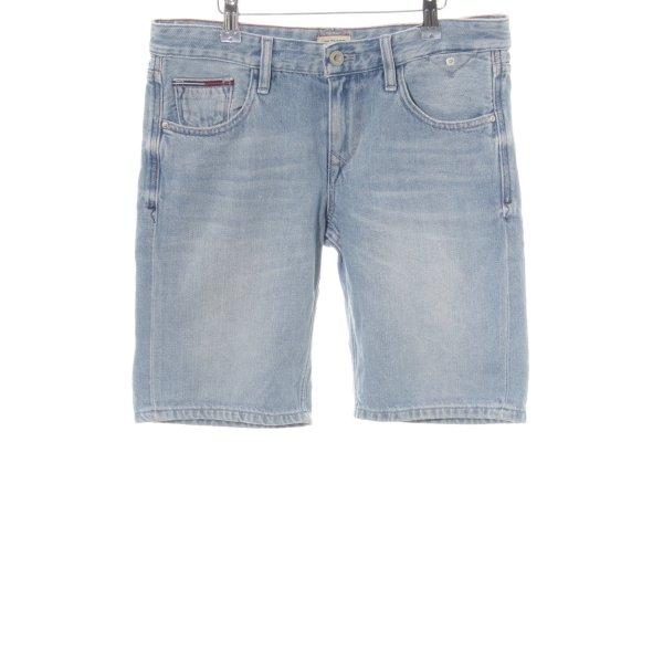 Hilfiger Denim Jeansshorts blau Used-Optik
