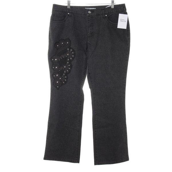 Himmelblau High Waist Jeans anthrazit Casual-Look