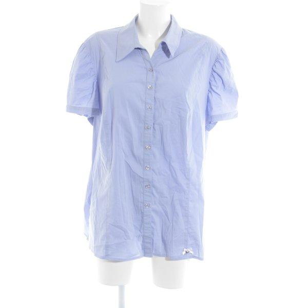 Himmelblau Kurzarm-Bluse himmelblau Casual-Look