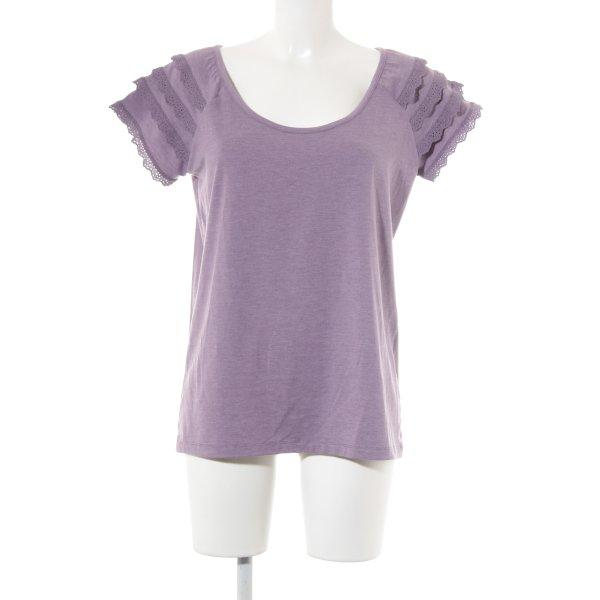 Himmelblau T-Shirt blauviolett Casual-Look