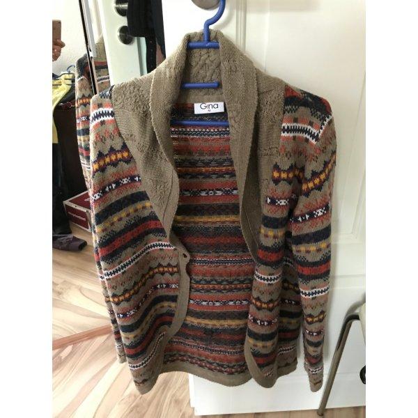 Hippie Jacke von Gina Strickjacke Größe 42 M L Cardigan