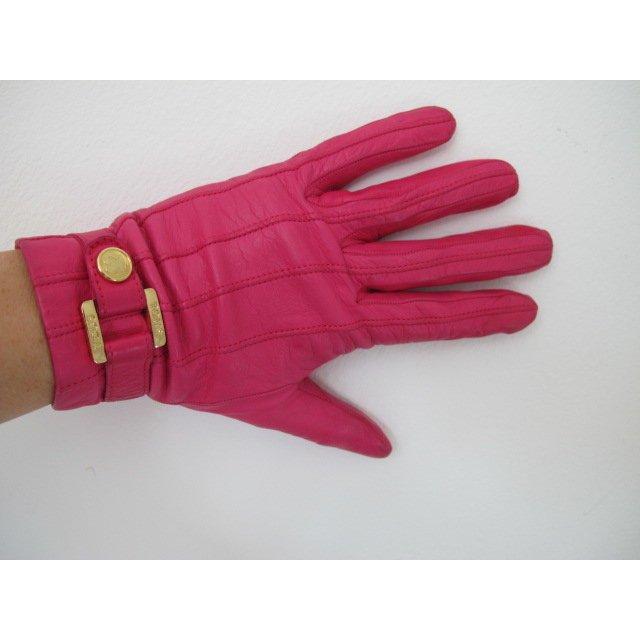 Hochwertige Echtleder Handschuhe magenta/pink NP ca. 300,-€