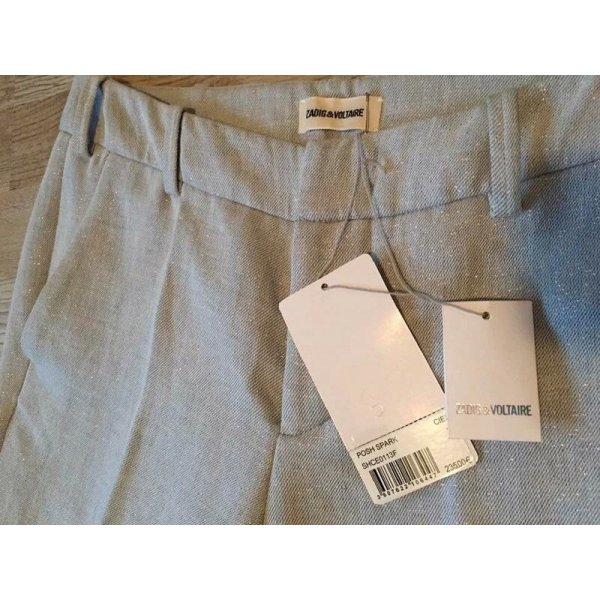 Zadig & Voltaire Spodnie materiałowe jasnoniebieski-błękitny