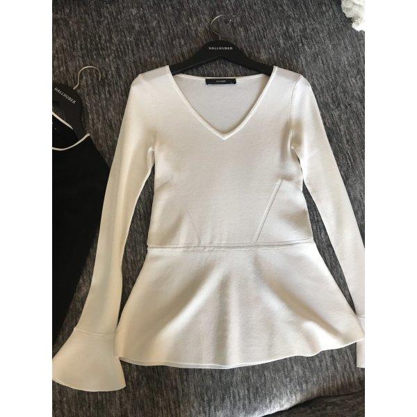 Hochwertiger Pullover/ Longsleeve /Schößchen-Shirt - Hallhuber