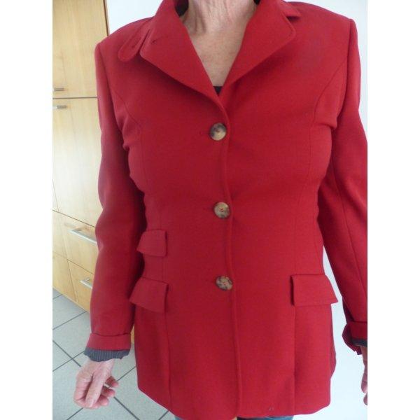 hochwertiges,rotes, tailliertes Damenjackett