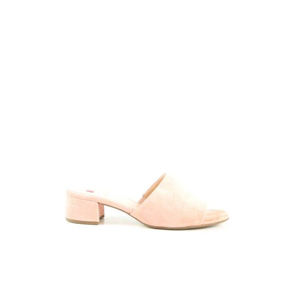 Högl Absatz Pantoletten pink Casual-Look