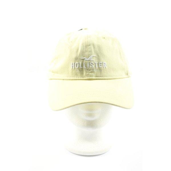 Hollister Baker's Boy Cap primrose-white casual look