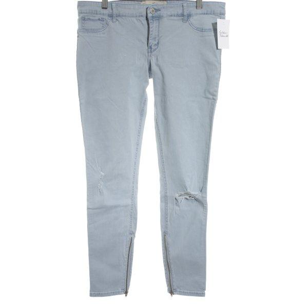Hollister Pantalone cinque tasche azzurro stile universitario