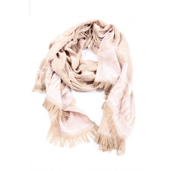 Hollister Fringed Scarf cream-natural white themed print casual look