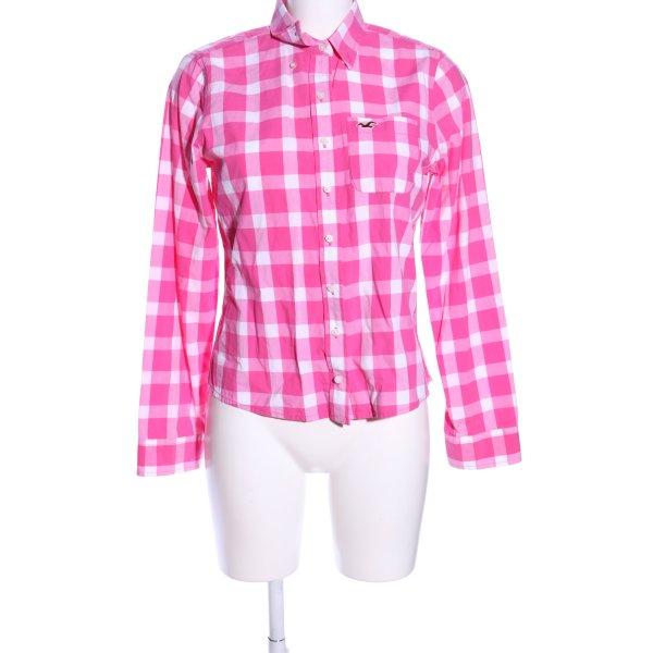Hollister Hemd-Bluse pink-weiß Allover-Druck Casual-Look