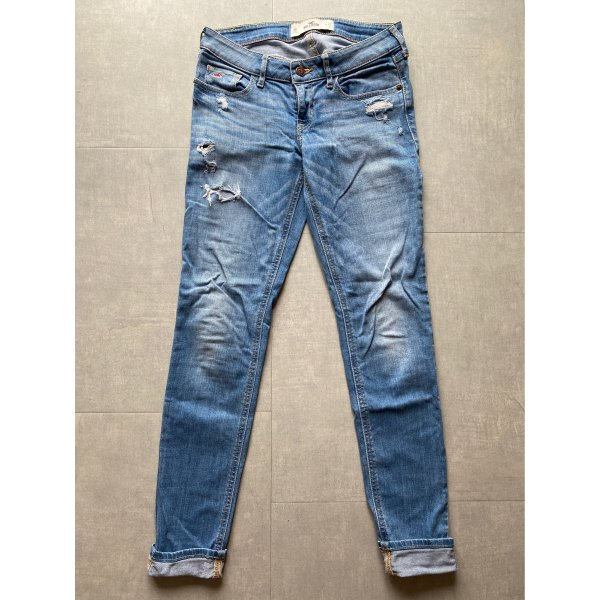 HOLLISTER Jeans Destroyed Jeans Hellblau W26 L31