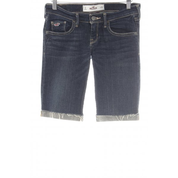 Hollister Shorts dunkelblau Farbverlauf Casual-Look