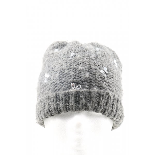 Hollister Knitted Hat light grey cable stitch casual look