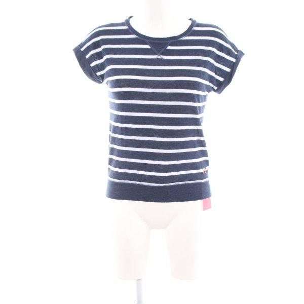 Hollister T-Shirt blau-weiß Streifenmuster Casual-Look