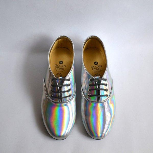 Zapatos estilo Oxford multicolor Material sintético