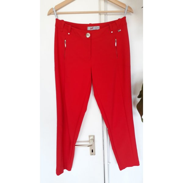 Hose; Rot, Grüße 38, Baumwolle