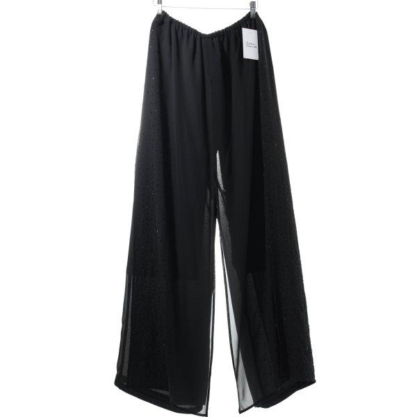 Hose schwarz extravaganter Stil
