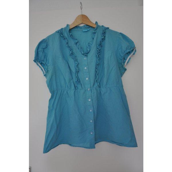 Hübsche kurzarm Bluse Shirt von Wissmach Größe 44 türkis mintgrün