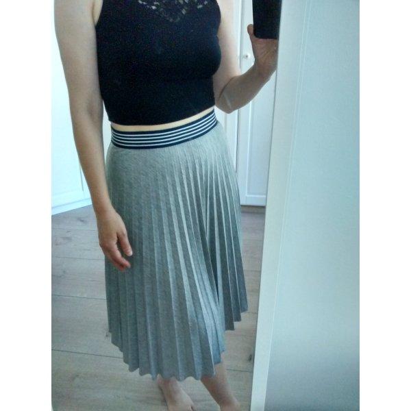 Atmosphere Pleated Skirt grey-dark blue mixture fibre