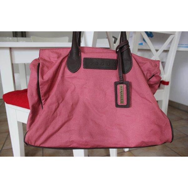 Sisley Shopper roze-zwart bruin