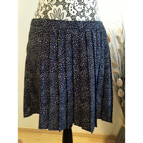 Review Pleated Skirt blue-white