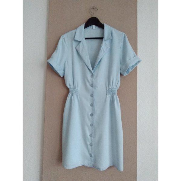 hübsches Minikleid in hellblau aus 100% Lyocell, Grösse M, neu