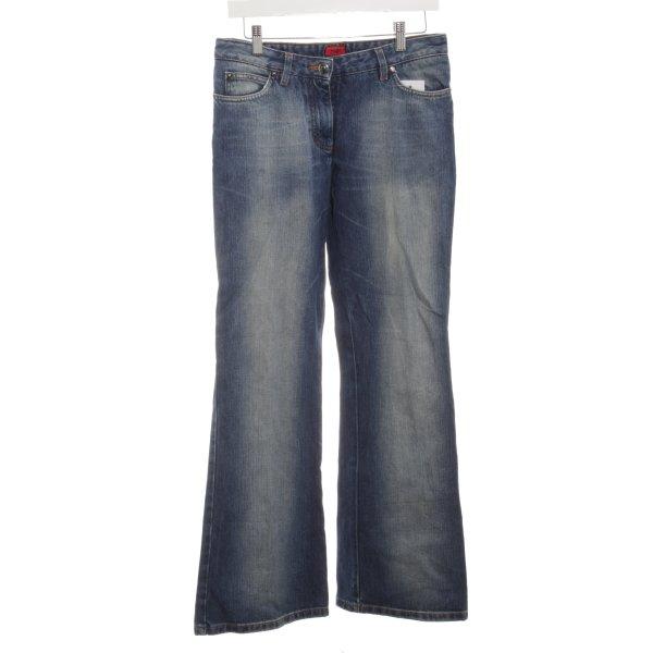 Hugo Boss Boot Cut Jeans dunkelblau Casual-Look