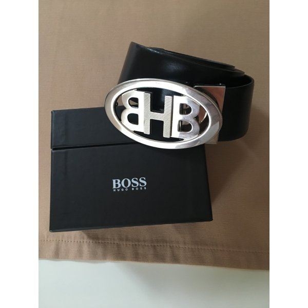 Hugo Boss Leather Belt black leather