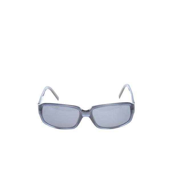 Hugo Boss eckige Sonnenbrille hellgrau-schwarz Casual-Look