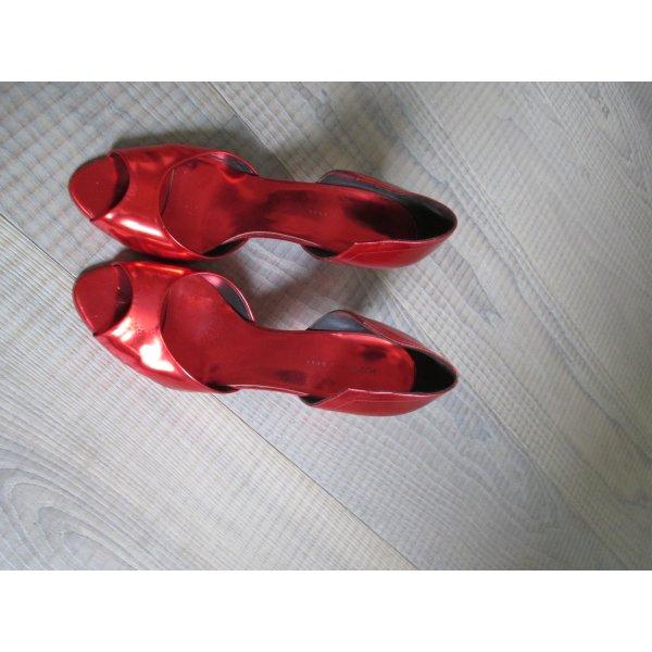 Hugo Boss Pumps in glänzendem rot