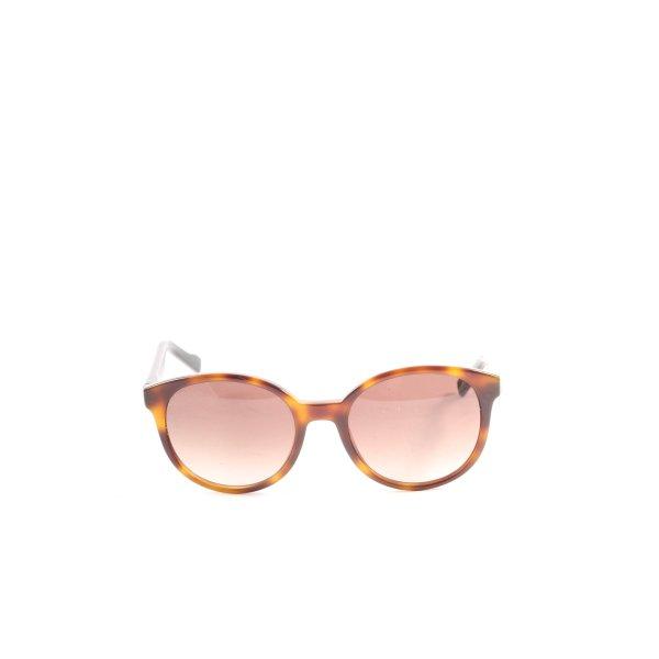 Hugo Boss runde Sonnenbrille braun-hellorange Casual-Look