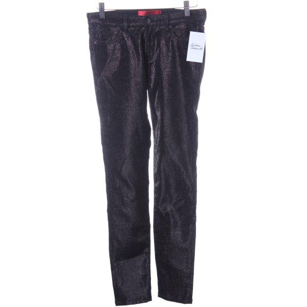 Hugo Boss Slim Jeans schwarz Glitzer-Optik