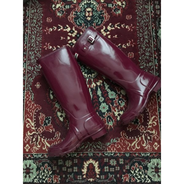 HUNTER Glossy Boot Pink, Größe 37