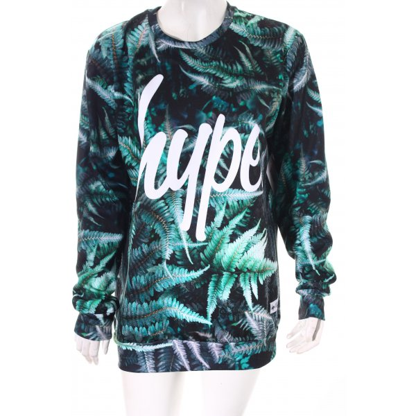 Hype Oversized Pullover abstraktes Muster Street-Fashion-Look