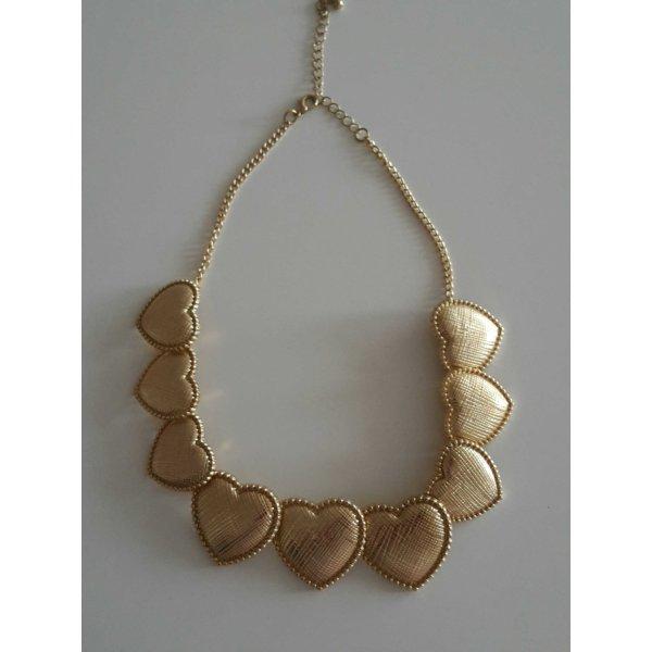 I am Herzchenkette gold Modeschmuck