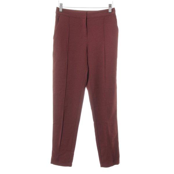 Ikks Pantalon à pinces rouge carmin-crème style décontracté