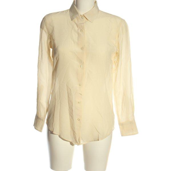 Ines de la Fressange Langarmhemd blassgelb Casual-Look