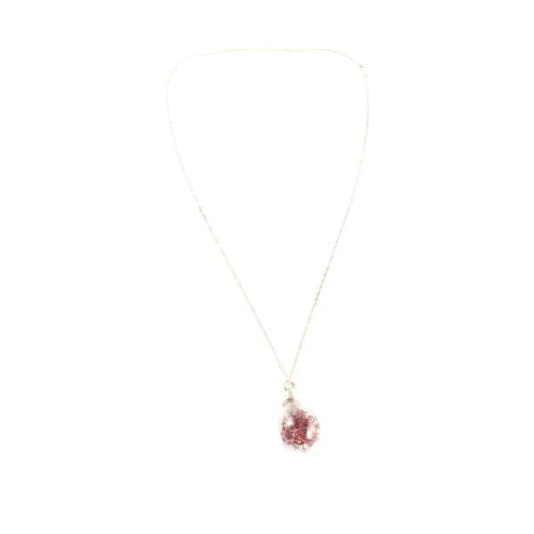 Ines de la Fressange Silberkette silberfarben-rot Elegant