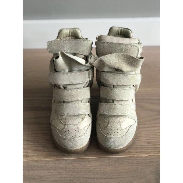 Isabel Marant Sneakers met hak licht beige Suede