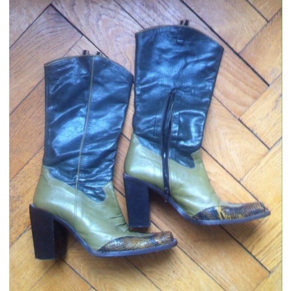 Italienische Stiefel Western style / hochwertiges Leder