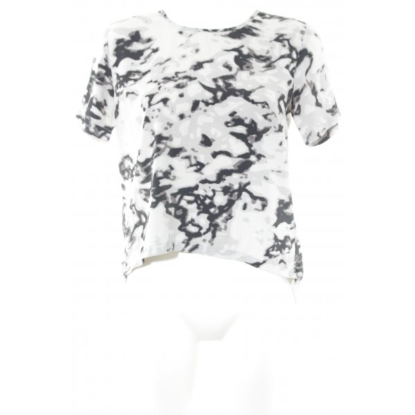Ivyrevel Kurzarm-Bluse abstraktes Muster Casual-Look